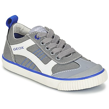 Shoes Boy Low top trainers Geox J KIWI B. J Grey