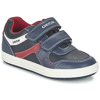 Shoes Boy Low top trainers Geox J VITA A MARINE / Red