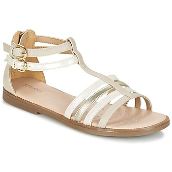 Shoes Girl Sandals Geox J S.KARLY G. D Beige