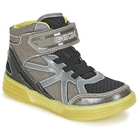 Shoes Boy High top trainers Geox J ARGONAT B. B Grey / Citron