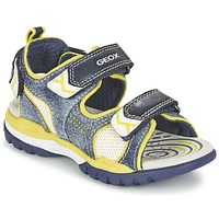 Shoes Boy Sports sandals Geox J BOREALIS B. D MARINE / Citron