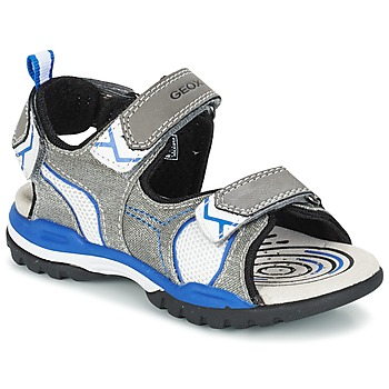 Shoes Boy Sports sandals Geox J BOREALIS B. D Grey / Blue