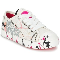 Shoes Children Low top trainers Geox J CIAK G. D White / Pink