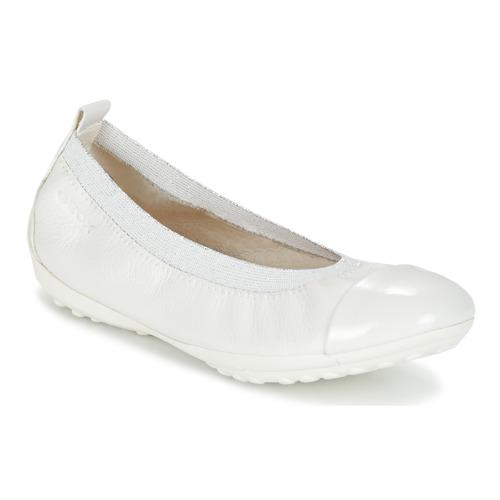 Shoes Girl Ballerinas Geox J PIUMA BALL B White