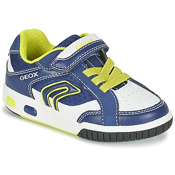 Shoes Boy Low top trainers Geox J GREGG A Blue / Citron