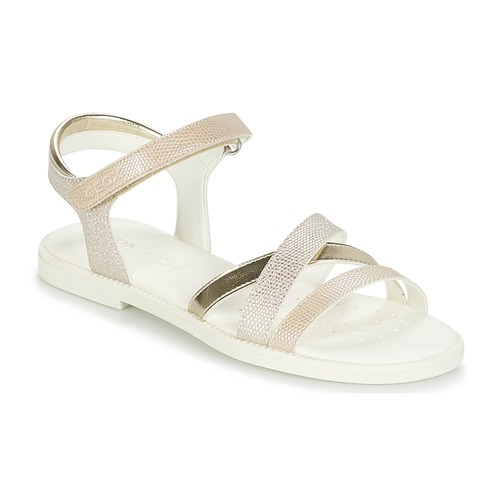 08f5ce72 Geox J S.KARLY G.D Beige / Gold - Fast delivery | Spartoo Europe ...
