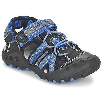 Shoes Boy Sports sandals Geox J SAND.KYLE C Black / Blue