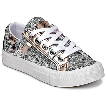 Shoes Girl Low top trainers Kaporal AMBERA Silver