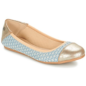 Shoes Women Ballerinas Kaporal BLAIR Blue / Gold