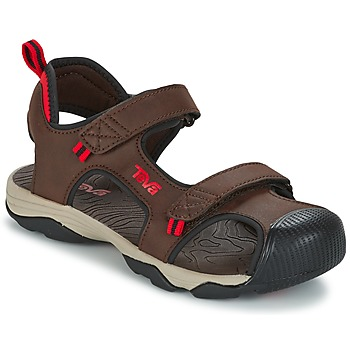 Shoes Boy Sports sandals Teva TOACHI 4 Brown / Black / Red