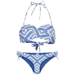 material Women Bikini Rip Curl DEL SOL BANDEAU SET Blue / White
