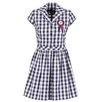 material Women Short Dresses Love Moschino WVF3001 Blue / White