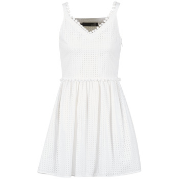 material Women Short Dresses Love Moschino WVF3880 White