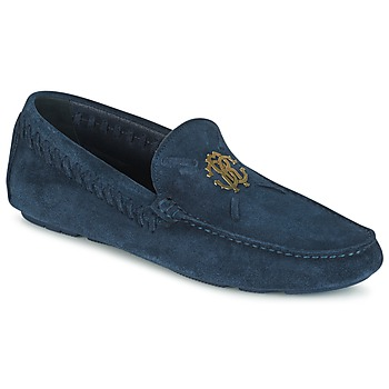 Shoes Men Loafers Roberto Cavalli 2022A Blue