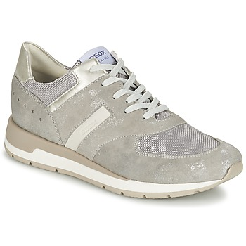 Shoes Women Low top trainers Geox SHAHIRA A Grey