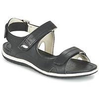 Shoes Women Sports sandals Geox D SAND.VEGA A Black