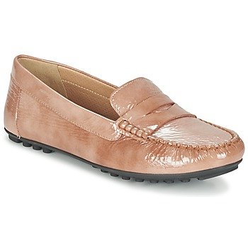 Shoes Women Loafers Geox D LEELYAN B Beige