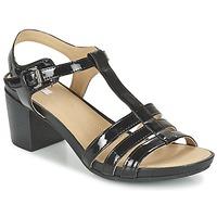 Shoes Women Sandals Geox D SYMI C Black