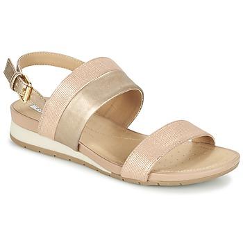 Shoes Women Sandals Geox D FORMOSA C Pink / Gold