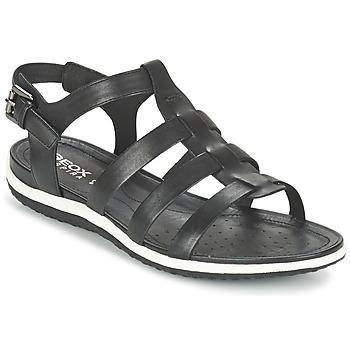 Shoes Women Sandals Geox D SAND.VEGA A Black