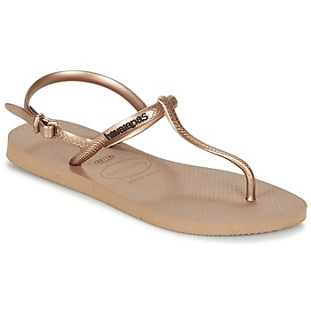 Shoes Women Flip flops Havaianas FREEDOM Pink / Gold