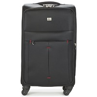 Bags Soft Suitcases David Jones JAVESKA 76L Black