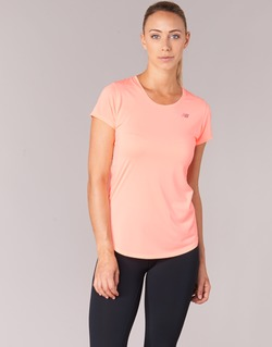 material Women short-sleeved t-shirts New Balance ACCELERATE T Coral