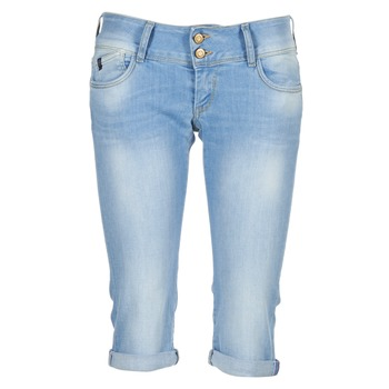 material Women 3/4 & 7/8 jeans Le Temps des Cerises CHRISTIA Blue / Clear