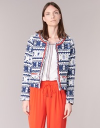 material Women Jackets / Blazers Molly Bracken BERIP Marine / White / Orange