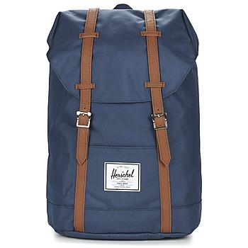 Bags Rucksacks Herschel RETREAT MARINE / Brown