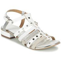 Shoes Women Sandals Café Noir CAFOUT White / Silver