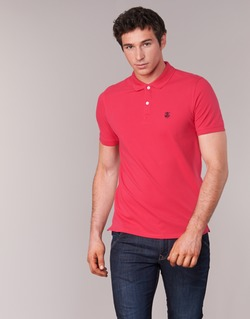 material Men short-sleeved polo shirts Selected ARO Red