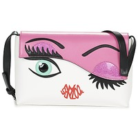 Bags Women Shoulder bags Braccialini EYES White / Pink