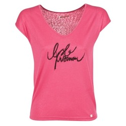 material Women short-sleeved t-shirts Les P'tites Bombes CHOUBERNE Pink