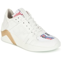 Shoes Women High top trainers Serafini CHICAGO White / Gold