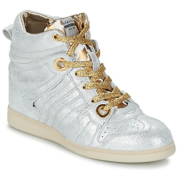 Shoes Women High top trainers Serafini MANHATTAN Silver / Gold