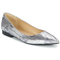 Shoes Women Ballerinas Betty London GRACE Silver / Python