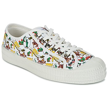 Shoes Women Low top trainers Miss L'Fire NOVESTA White / Multicoloured