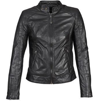 material Women Leather jackets / Imitation leather Schott HARVEY Black