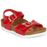 Shoes Children Sandals Birkenstock RIO Red