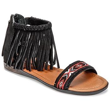 Shoes Women Sandals Minnetonka MOROCCO Black