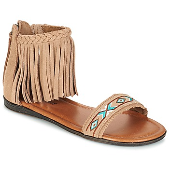 Shoes Women Sandals Minnetonka MOROCCO Beige