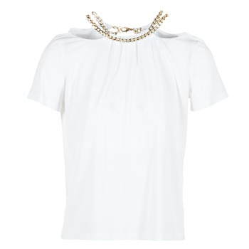 material Women Blouses Versace Jeans B2HPB721 White