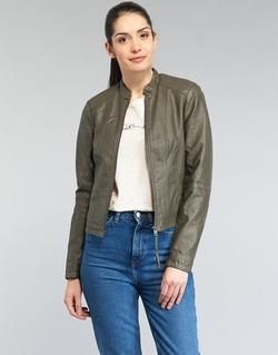 material Women Leather jackets / Imitation leather Vero Moda QUEEN KAKI