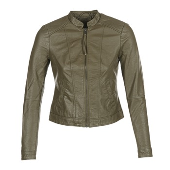 material Women Leather jackets / Imitation leather Vero Moda QUEEN Kaki
