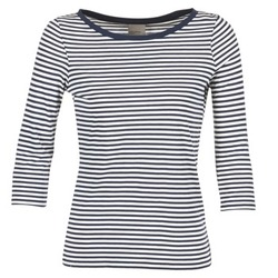 material Women Long sleeved shirts Vero Moda MARLEY MARINE / White
