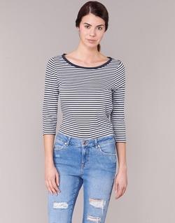 material Women Long sleeved shirts Vero Moda MARLEY MARINE / White