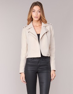 material Women Leather jackets / Imitation leather Vero Moda SOFIA Beige