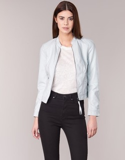 material Women Leather jackets / Imitation leather Vero Moda QUEEN Blue / Clear