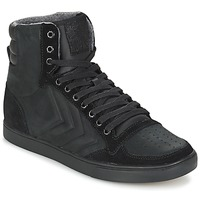Shoes High top trainers Hummel TEN STAR MONO OILED IG  BLACK /  BLACK
